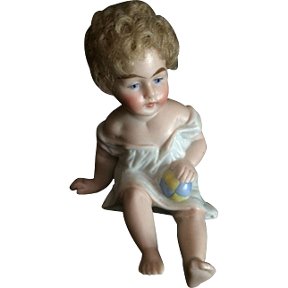 Rare Piano Baby With Mohair Wig Marked 350-5