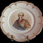 """19th C. Sevres Porcelain Cabinet Plate Of Louie XV Chateau de Versailles 9 3/8"""""""