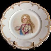 """19th C. Sevres Porcelain Cabinet Plate Of Duc de Bourgogue Chateau de Versailles 9 3/8"""""""