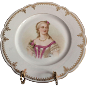 Sevres Porcelain Cabinet Plate Of Mme Du Barry Chateau de Saint Cloud 9.5""