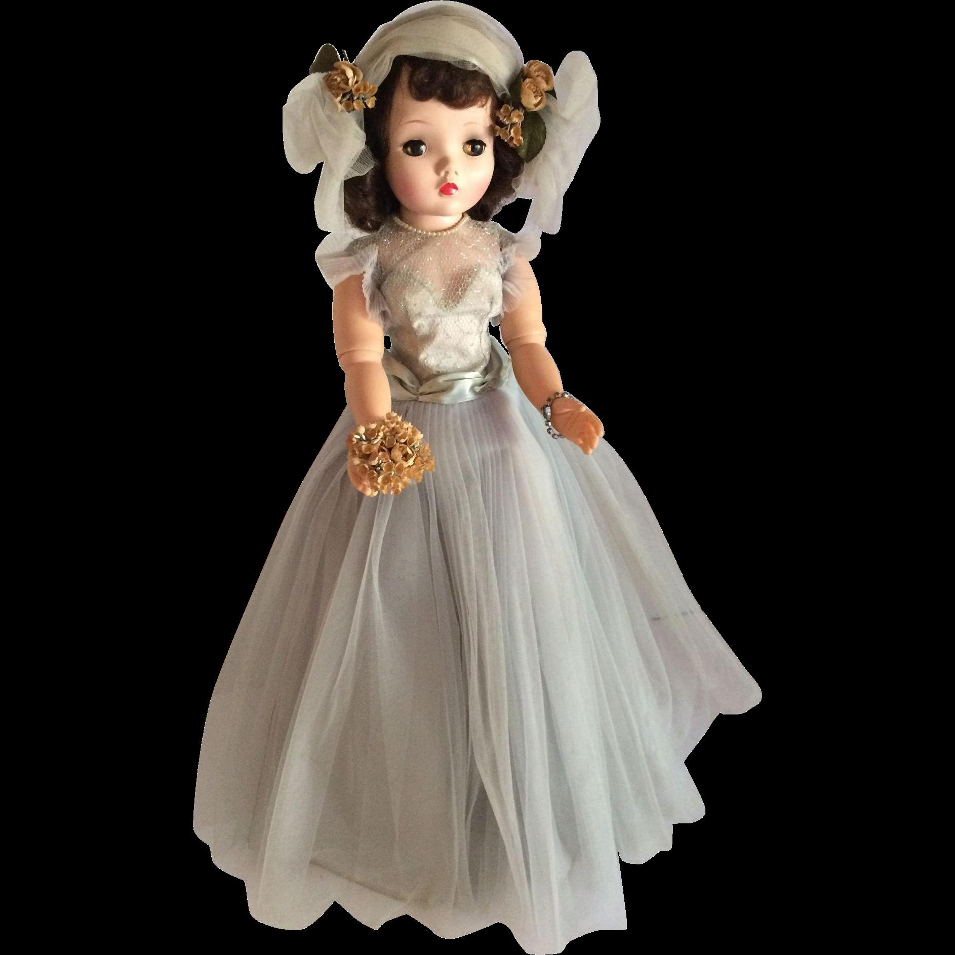 """Vintage Madame Alexander 20 inch """" Cissy""""  The Bridesmaid All Original"""