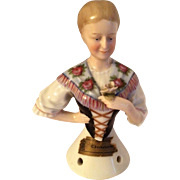 William Goebel High Gloss (China) Half-Doll With Markings c 1905-1911