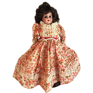 "German Bisque Shoulder Head ""Ruth"" Doll With Kid Body"