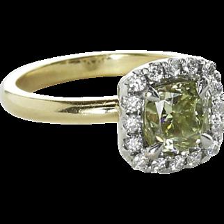 Vintage Mid-Century 1.00 carat Diamond Engagement Ring