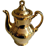Sterling China Japan Gold Plated Tea Pot