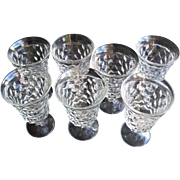 Fostoria American Crystal Set Of Seven Low Water Goblets