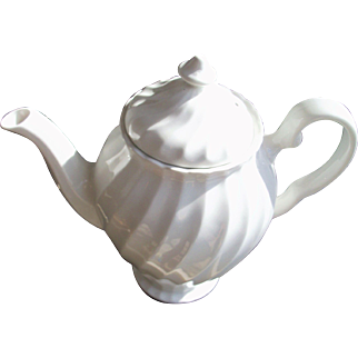 Johnson Brothers Regency White Swirl Coffee Pot
