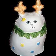 Shafford Cat Christmas 1986 Cookie Jar By Paula Best Bertholf Made In Japan
