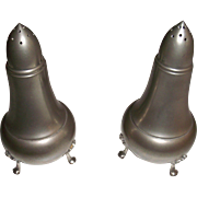 A L Hanle Distinctive American Pewter Salt & Pepper Shakers