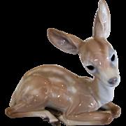 Lladro Spain Figurine Of A Deer
