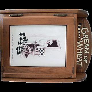 Cream Of Wheat Hanging Wood Cabinet