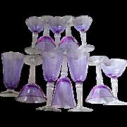 Fostoria Wisteria Set Of Twelve Stemware Pieces