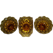 LE Smith Moon & Stars Amber Set Of Two Candle Bowls And A Small Boat