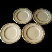 Minton Wimbledon Bone China Set Of Four Dinner Plates