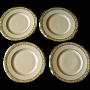 Minton Wimbledon Bone China Set Of Four Salad Plates