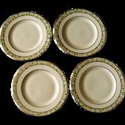 Minton Wimbledon Bone China Set Of Four Bread & Butter Plates