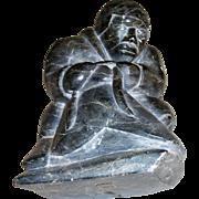 Canada Eskimo Art Original Carved Heavy Figurine