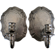 De Campos De Quevedo Pewter Pair of Wall Sconces Portugal