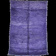 BENI M'GUILD Genuine Vintage Moroccan Berber Hand Knotted Wool Rug