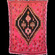 BOUJAAD Moroccan Hand Knotted Berber Rug Genuine Vintage