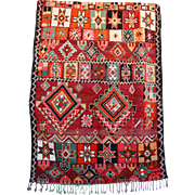BOUJAAD Genuine Vintage Moroccan Hand Knotted Rug