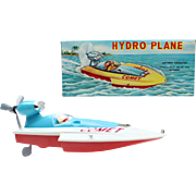 China Hong Kong D-4 hydro plane comet speedboat plastic toy in original box