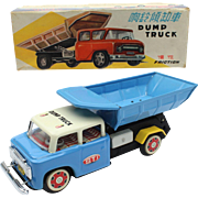 China Shanghai Tin Toy MF 717 Dump Truck ca 1960 in the original box