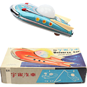 Vintage China Tin Toy ME 089 Universe car in the original box, battery operated