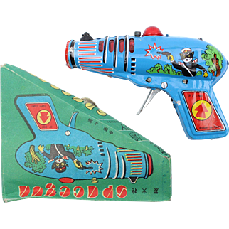 Tin Toy SPACEGUN HF 901 Forest Security in the original box, made in China ca 1960