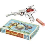Space Outlaw Atomic Pistol Space Gun by B.C.M made in England ca. 1960 Mint in Box