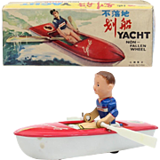 Red China Shanghai ME MM UC MF MS 750 Yacht non-fallen wheel TIN TOY early box