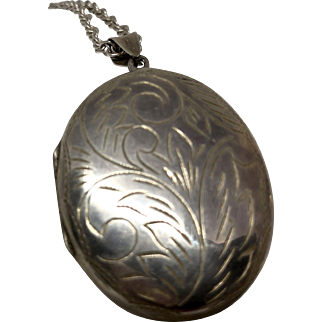 Large Sterling Silver Locket