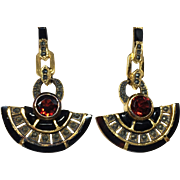 Art Deco Style Egyptian Revival Earrings