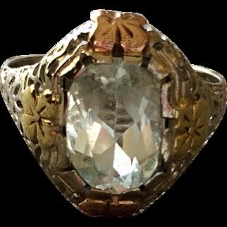 Vintage 14K Gold Aquamarine Ring