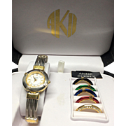 Estate: ANNE KLEIN II 2-tone Watch with Interchangeable Bezels