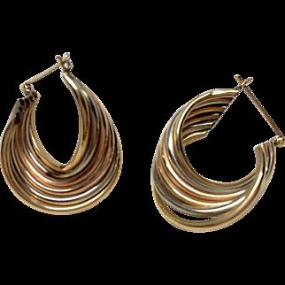 Gorgeous Retro 14k Gold Earrings