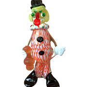 Vintage Art Glass Clown
