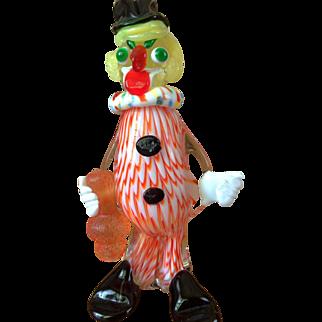 Vintage Art Glass Clown
