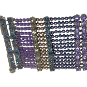 Vintage Italian Bead and Faceted Stone Bracelet
