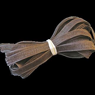 Vintage Millinery ~ Horsehair Hat Straw ~ 5 Yards ~ Dark Taupe Beige ~ Doll Hats or Ladies