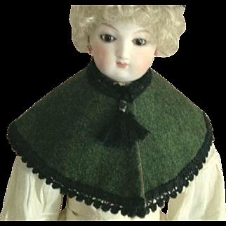 "French Fashion Wool Shoulder Cape or Pelerine ~ Artist Made ~ 14"" - 16"" Dolls"