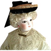 "French Fashion Hat ~ Vintage Straw, Trims ~ Artist Made ~ 7-1/2"" to 8-1/2"" Head"