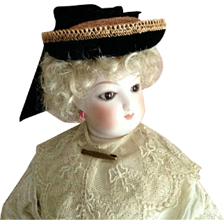 French Fashion Hat ~ Vintage Straw, Trims ~ Artist Made by Zofia Rose