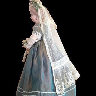 French Fashion ~ Bridal Veil w/ Coronet ~ Artist Made by Zofia Rose