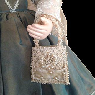 French Fashion ~ Bridal Aumoniere or Purse ~ Artist Made by Zofia Rose