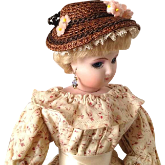 French Fashion Hat ~ Pink Flowers ~ Artist Made by Zofia Rose