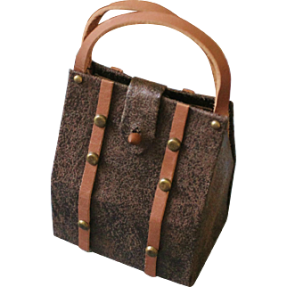 """French Fashion Travel Valise ~ Dark Brown ~ Artist Made ~ for Dolls 14"""" - 20"""""""