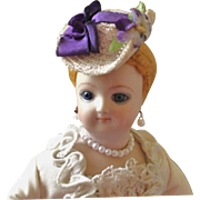 """French Fashion ~ Tiny Hat or Bonnet ~ Artist Made ~ for 4-1/2""""- 5"""" Head"""