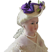 French Fashion ~ Tiny Hat or Bonnet ~ Artist Made ~ HOLDING for P