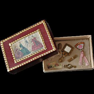 French Fashion Accessory ~ Artist Made ~ Tiny Presentation Display Box